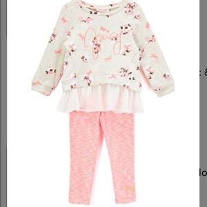 Juicy Couture peplum tunic and pink leggings